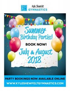 Summer Birthdays 2018