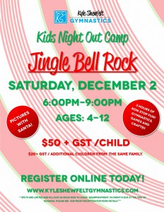 Jingle Bell Rock - December 2 Kids Night Flyer